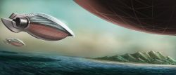 Art Airships Approaching Mata Nui.jpg