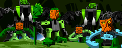 Animation Krana-possessed Matau and Le-Matoran.png